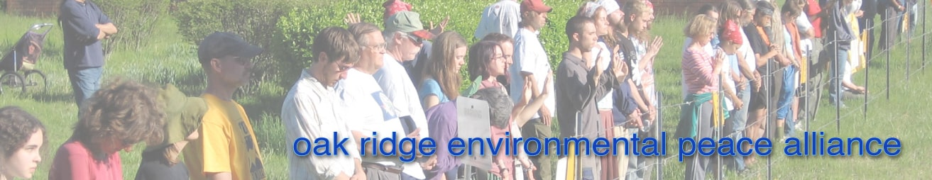 Oak Ridge Environmental Peace Alliance Banner